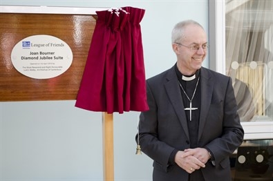 Joan Bourner Relatives Suite opened by The Archbishop of Canterbury
